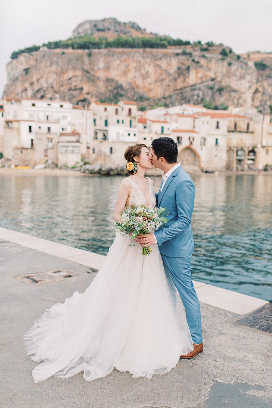 Pre-Wedding Photo Shoot Palermo Sicily Cefalu - Rox and San